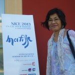 Tsuyumi devant l'entree du musée Matisse 09-2013